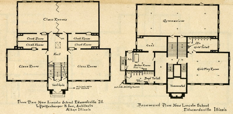 Floor Plan for the New Lincoln School – Madison Historical