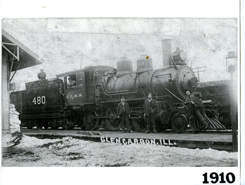 Illinois Central Railroad Steam Engine No. 480