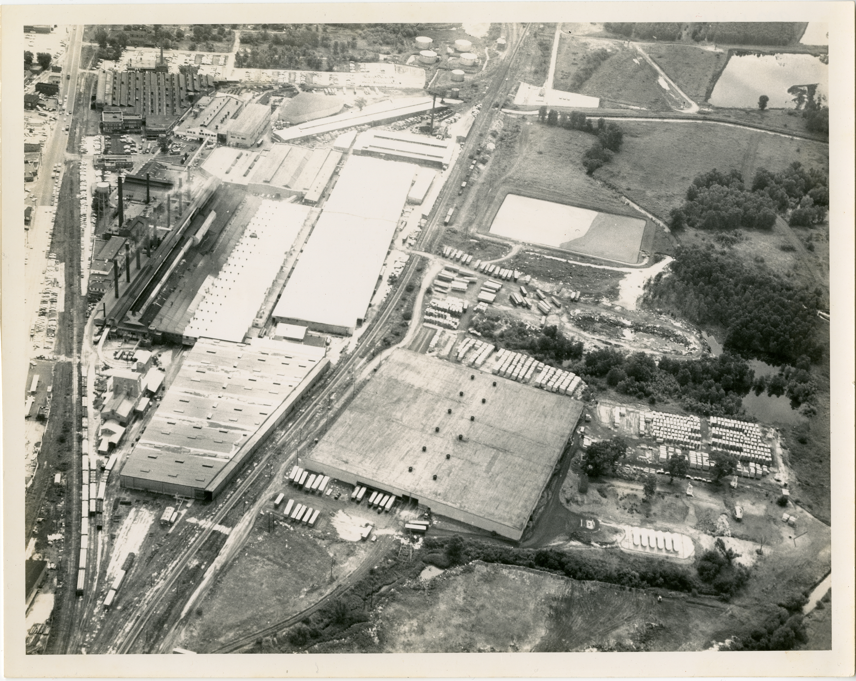 Aerial View of Owens-Illinois Glass Factory - Madison