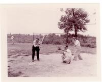 1958 Standard Oil Employees Playing Baseball