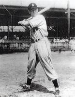 1947 Walter Schuerbaum  in Augusta Georgia Posing at Bat