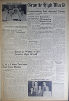 """""""Granite High World"""" School Newspapers for the 1948-49 School Year"""