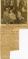 1958 Alton Evening Telegraph Clipping of Five Generations of the Thorpe Family