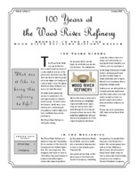 """January 2017 Issue of """"100 Years at the Wood River Refinery"""""""