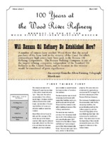 """March 2017 Issue of """"100 Years at the Wood River Refinery"""""""