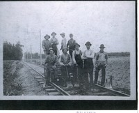 Railroad Hand Car Workers Who Repair The Tracks
