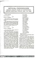 December 19, 1930 Official Proceedings of the Madison County Board of Supervisors