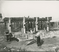 Trumble 2 Apparatus Supports  during the 1917-1918 Construction of the Wood River Refinery