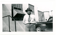 1952 Man in Posing for Photograph During Standard Oil Strike