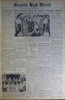 """""""Granite High World"""" School Newspapers for the 1953-54 School Year"""