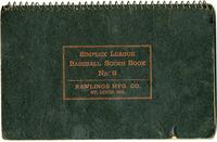 1947 Collinsville Indians Scorebook