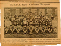 1933 Edwardsville High School Men's Football Conference Champions