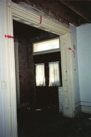 Double Doors inside the Stephenson House during resoration in the early 2000s