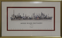 1999 Original Print of the Wood River Refinery, Given to JoAnn Laird Upon Her Retirement