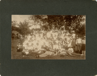 Members of the Italian-American Alpina Dogali Society with their families in Collinsville