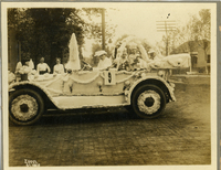 Decorated automobile for the Collinsville Commercial Club Parade