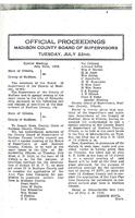 July 22, 1930 Official Proceedings of the Madison County Board of Supervisors