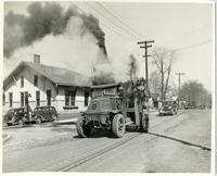 1939 Pulverization of brick paving on Route 66/Vandalia Street in Edwardsville