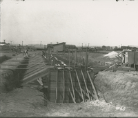 Boiler House Foundations  during the 1917-1918 Construction of the Wood River Refinery