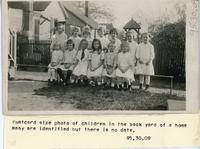 Children in a Back Yard in Collinsville circa 1915