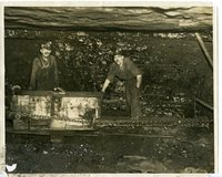 Two Coal Miners Working in a Glen Carbon Mine