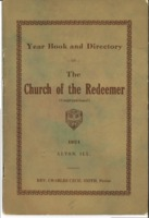 1921 Year Book and Directory for The Church of the Redeemer in Alton