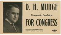 Political Business Card for D. H. Mudge Sr. Congressional Campaign