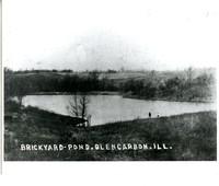 Postcard of the Brick Yard Pond in Glen Carbon