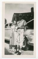 Wilbur and Margaret Richter in Front of Sedan