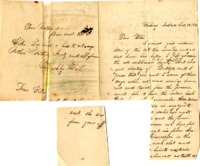 Letter from one of the Mudge brothers to E.W. Mudge, October 13th, 1859