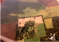 Aerial photograph of the Mudge property in Grantfork