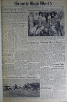 """""""Granite High World"""" School Newspapers for the 1955-56 School Year"""