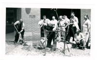 1952 Group of Men Working with Shovels Outdoors