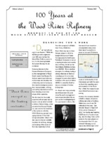 """February 2017 Issue of """"100 Years at the Wood River Refinery"""""""