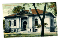 1910 Postcard of the Edwardsville Public Library
