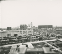 Trumbles 3 and 4 Supports and Receiving House in Background  during the 1917-1918 Construction of the Wood River Refinery
