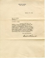 Letter from Franklin D. Roosevelt to D. H. Mudge Sr.