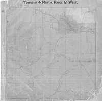1869 to 1871 Road Plats of Madison County by Surveyor Don Alonzo Spaulding