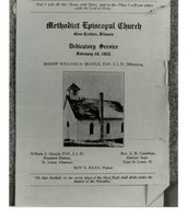 Flier for the Methodist Episcopal Church in Glen Carbon