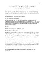 Richard Walker Oral History