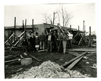1949 Photograph Standard Employees Help Bunker Hill Family Rebuild