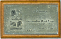 1960 Paperweight issued to Bruce Brubaker for serving on the Universities Bond Issue Committee