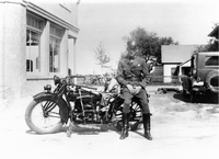 Illinois Maintenance Police Officer in Hamel in the 1920s