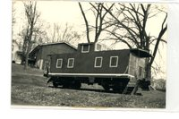 The caboose at Miner Park in Glen Carbon