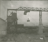 Coal Handling System   during the 1917-1918 Construction of the Wood River Refinery