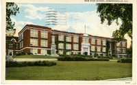 1936 Postcard of the Second Edwardsville High School Building