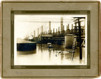 1915 Car in Flood at Wood River Standard Oil Co. Refinery