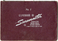 Collinsville Indians Scorebook for the 1949 and 1954 Seasons
