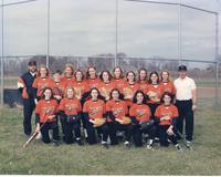Photograph of the 1997 Women's Tiger Softball Team