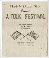 "1945 Program for ""Edwardsville Elementary Schools Present A Folk Festival"""